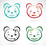 Vector image of an bear face Royalty Free Stock Photo