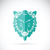 Vector image of a bear head design on white background. Stock Photography