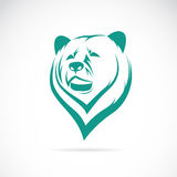 Vector image of an bear head. On white background royalty free illustration