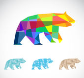 Vector image of an bear polygonal Stock Image