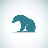 Vector image of an bear Royalty Free Stock Photos