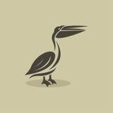Vector image of an billed stork Stock Photos