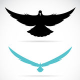 Vector image of an bird (pigeon) Royalty Free Stock Image