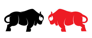 Vector image of an bison royalty free illustration