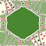 Vector image Black Jack for text. On texture background, combination playing cards suits: 7, 9, 10, 2 for gamble game black jack on green felt table, blackjack royalty free illustration