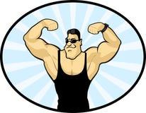 Vector image of a bodybuilder Stock Photos