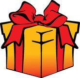 Vector image boxes with gifts Royalty Free Stock Images