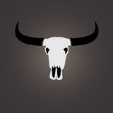 Vector image of an buffalo skull Stock Photo