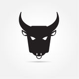 Vector image of buffalo on white background Stock Photography