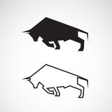 Vector image of an bull design Stock Photo
