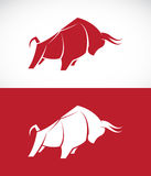 Vector image of bull design Royalty Free Stock Photos