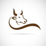 Vector image of an bull head. On a white background Royalty Free Stock Photo