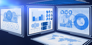 Vector image of business graphs. 3d Vector image of business graphs against white background Royalty Free Stock Image