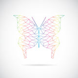 Vector image of an butterfly design Royalty Free Stock Photos