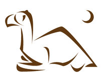 Vector image of an camel vector illustration