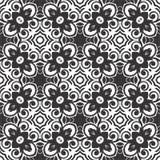 BLACK SEAMLESS WHITE BACKGROUND PATTERN royalty free stock photography