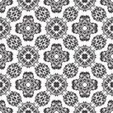 BLACK SEAMLESS WHITE BACKGROUND PATTERN royalty free stock photo