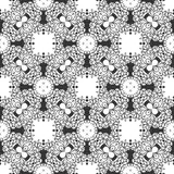 BLACK SEAMLESS WHITE BACKGROUND PATTERN Stock Image
