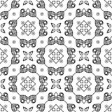 BLACK SEAMLESS WHITE BACKGROUND PATTERN Royalty Free Stock Photography
