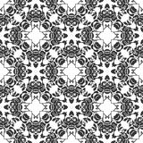 BLACK SEAMLESS WHITE BACKGROUND PATTERN stock photography