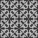 BLACK SEAMLESS WHITE BACKGROUND PATTERN royalty free stock image