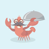 Vector image of a cartoon funny shrimp. Stock Images