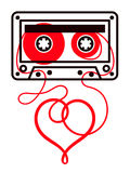 Vector Image Of Cassette With Heart Shape Stock Image