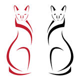 Vector image of an cat Royalty Free Stock Photography