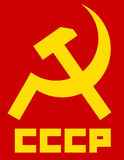 Vector image of CCCP hammer and sickle. Soviet union symbol Royalty Free Stock Photo