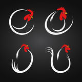 Vector image of an chicken design Royalty Free Stock Images