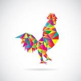 Vector image of an chicken design Stock Photos