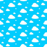 Vector Image Of Clouds In Blue Sky Royalty Free Stock Photo