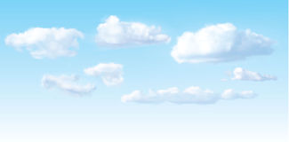Vector image of clouds Royalty Free Stock Photo