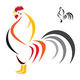 Vector image of an cock Royalty Free Stock Photos