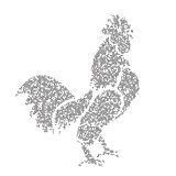 Vector image of an cock design Stock Photography