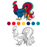 Vector image of a cock isolated Royalty Free Stock Photography