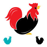 Vector image of an cock Stock Image