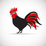 Vector image of an cock on white background. Vector image of arooster on white background. Black and red rooster, chinise New Year 2017 symbol Royalty Free Stock Photography
