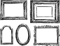 Drawn frame. Vector image of a collection of hand drawn frames royalty free illustration