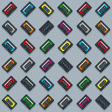 Vector Image Of Colorful Cassette Collection Royalty Free Stock Images