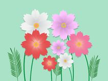 Vector image of colorful flower royalty free illustration
