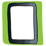 Vector image of computer tablet Royalty Free Stock Images