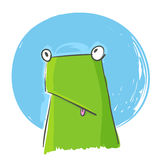 Vector image of confused green frog Stock Image