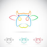 Vector image of an cow face Royalty Free Stock Photos