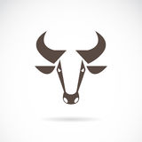 Vector image of an cow head Stock Photos