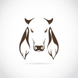 Vector image of cow head Royalty Free Stock Images