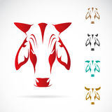 Vector image of cow head Royalty Free Stock Photos