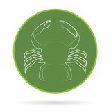 Vector image of an crab Stock Photo