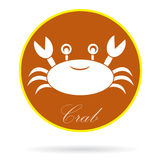 Vector image of an crab Royalty Free Stock Images