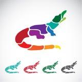 Vector image of an crocodile design Stock Photos